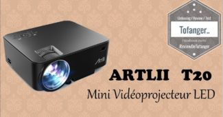 Mini videoprojecteur artlii t20